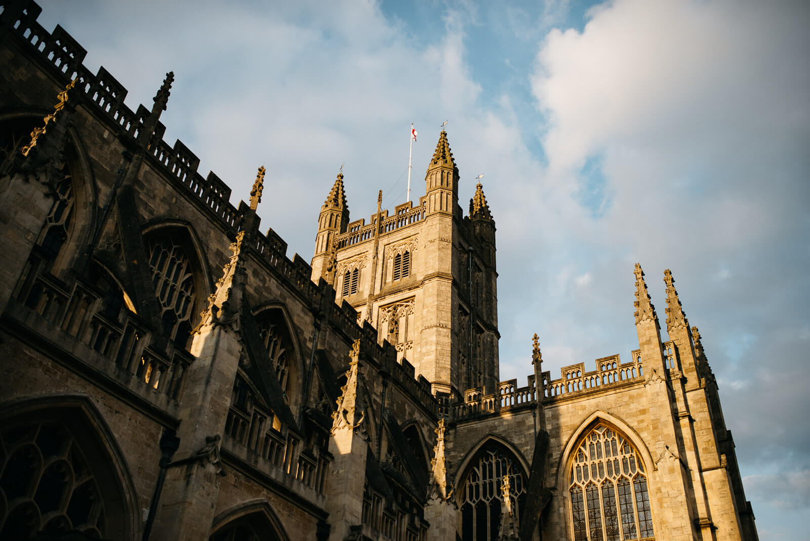 Bath Abbey on a sunny Autumn day