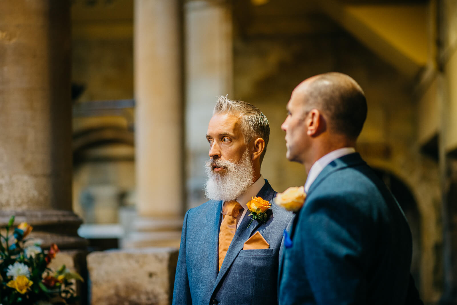 Groom and Groomsmen checking before marriage ceremony