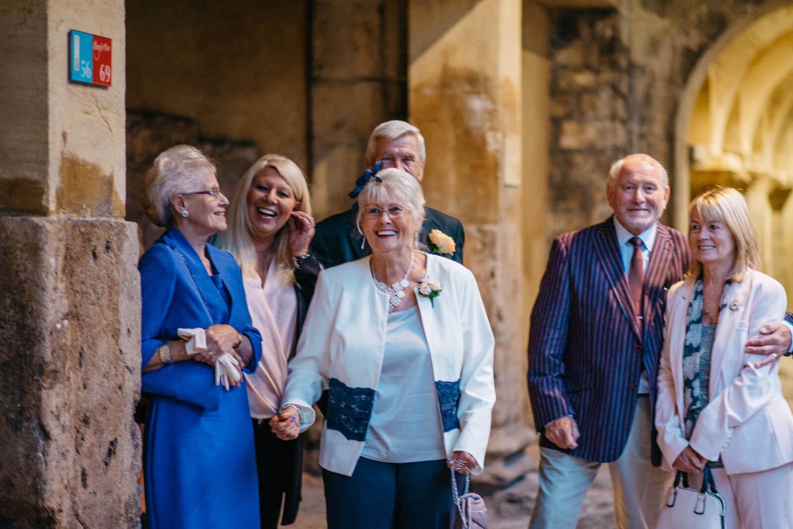 Guests laughing ahead of ceremony