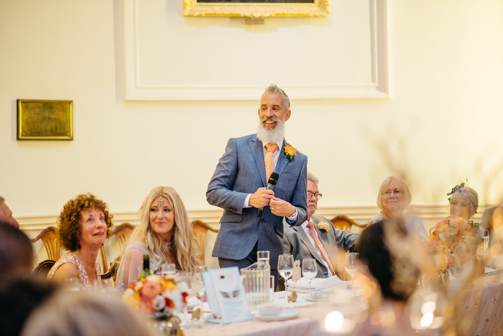 Groom giving his speech at the Pump House