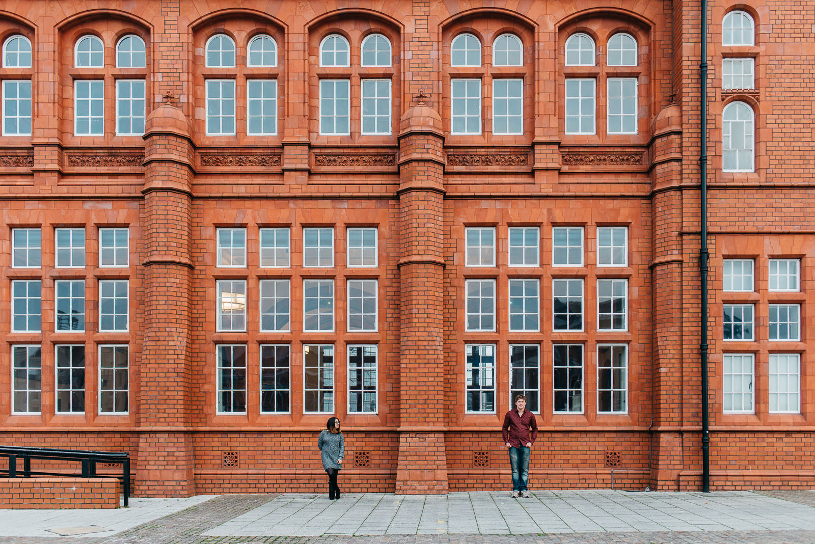 Cardiff bay Pierhead building engagement // Elaine Williams Photography