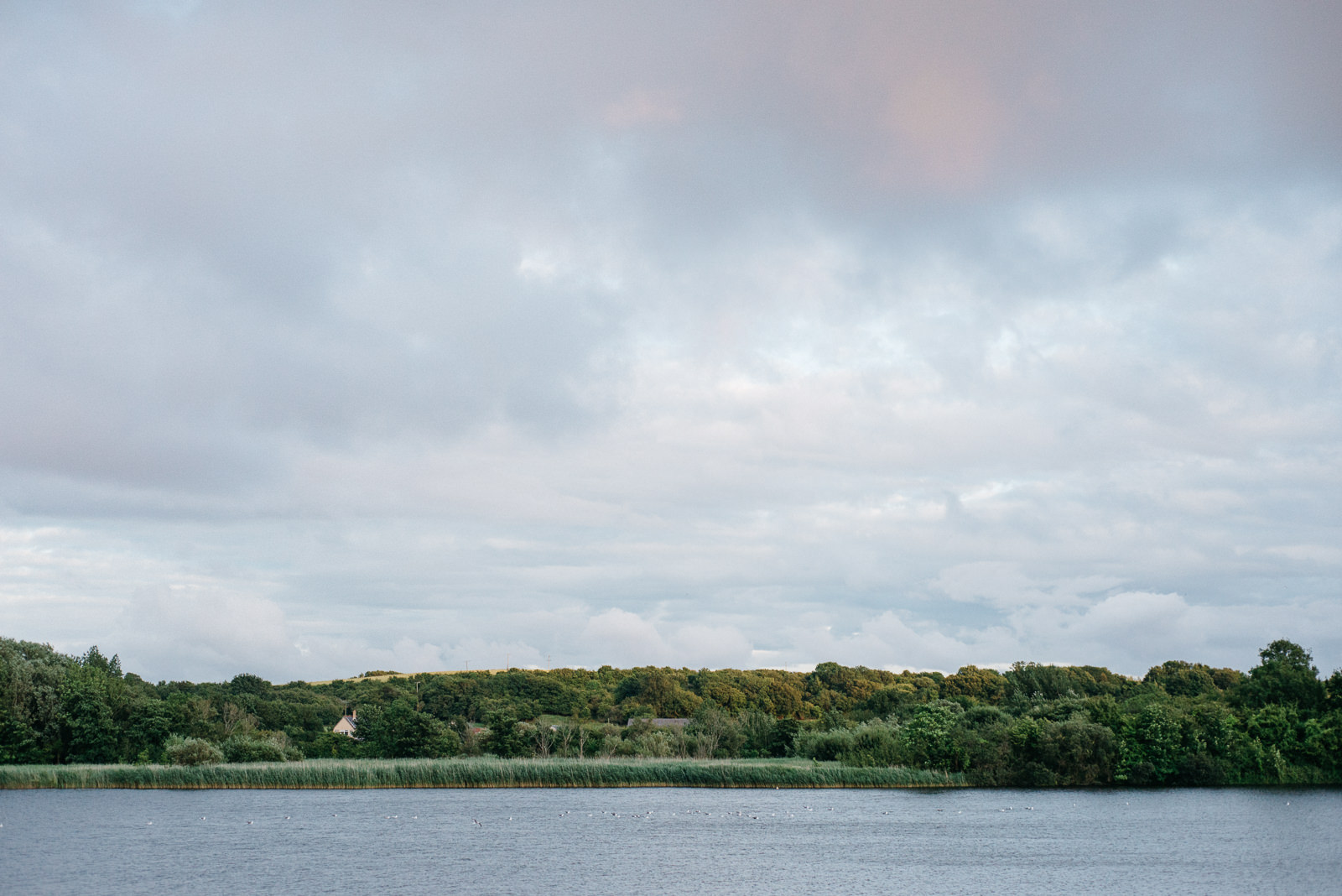 Landscape view of the lake at Cosmeston