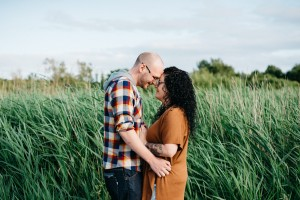 Evening engagement session at Cosmeston Lakes