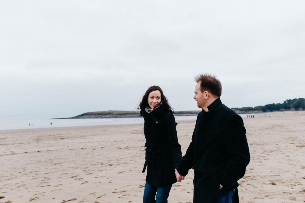 Welsh coast engagement at Barry Island // Elaine Williams Photography
