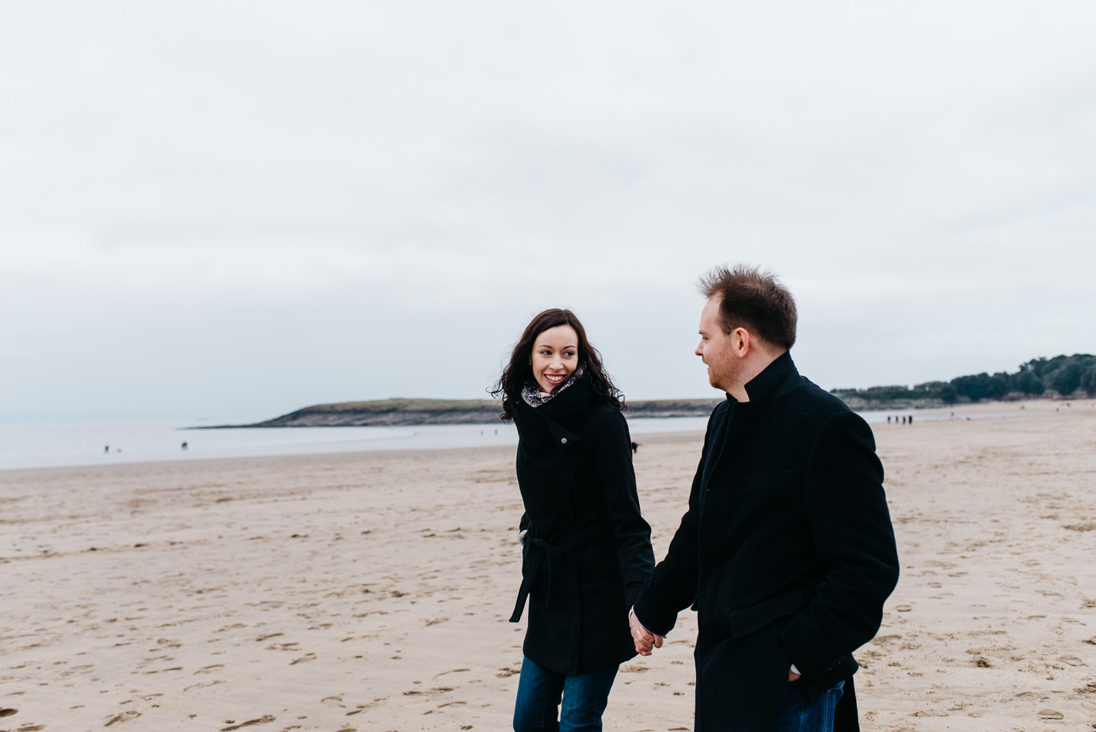 Welsh coast engagement at Barry Island // Elaine Williams Photography