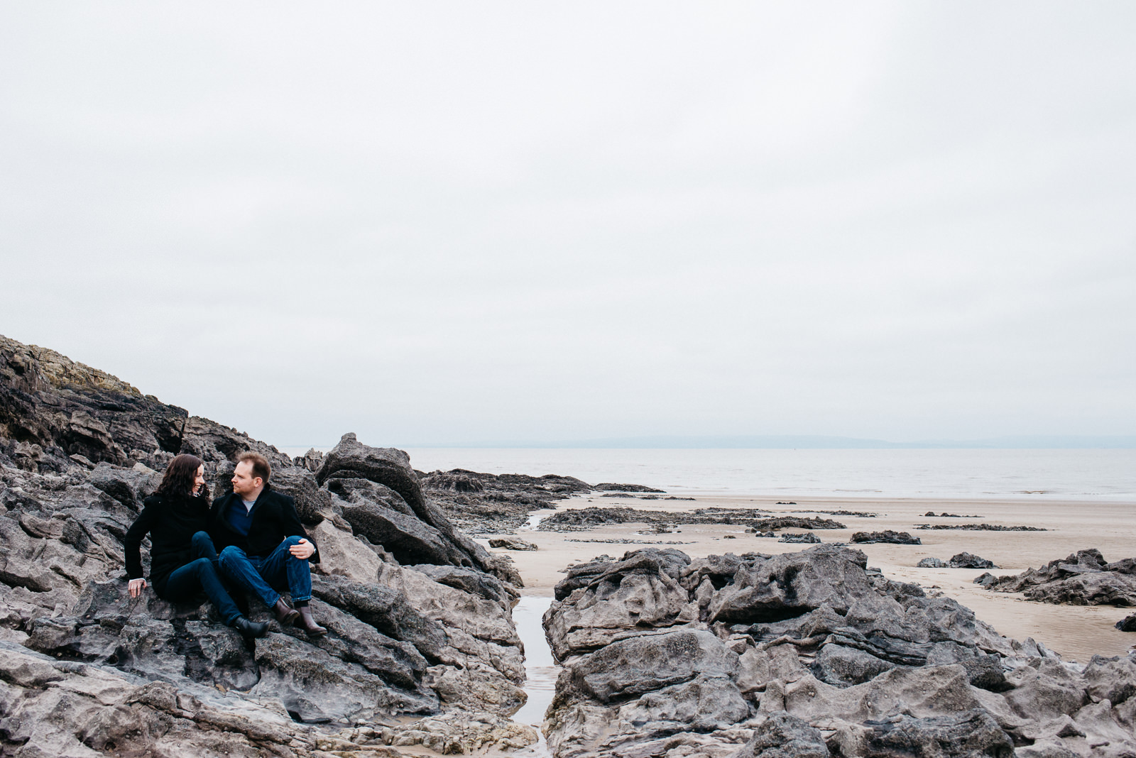 Welsh beach engagement at Barry Island // Elaine Williams Photography
