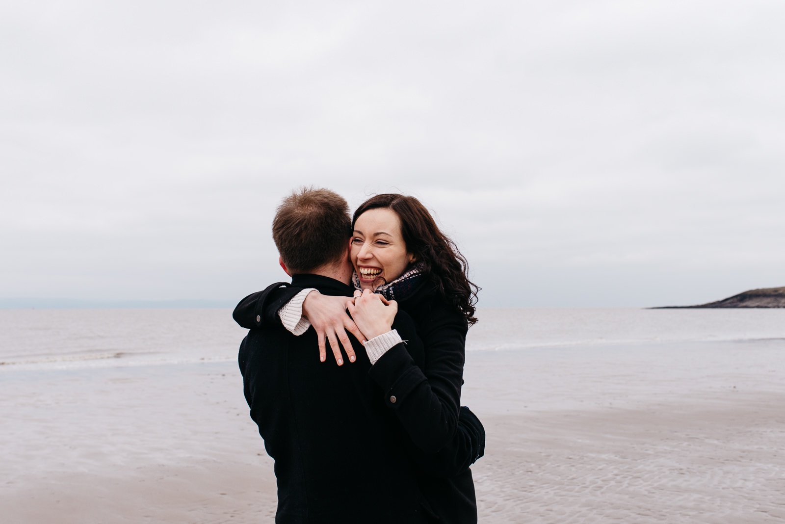 Spring coast engagement shoot in South Wales // Elaine Williams Photography