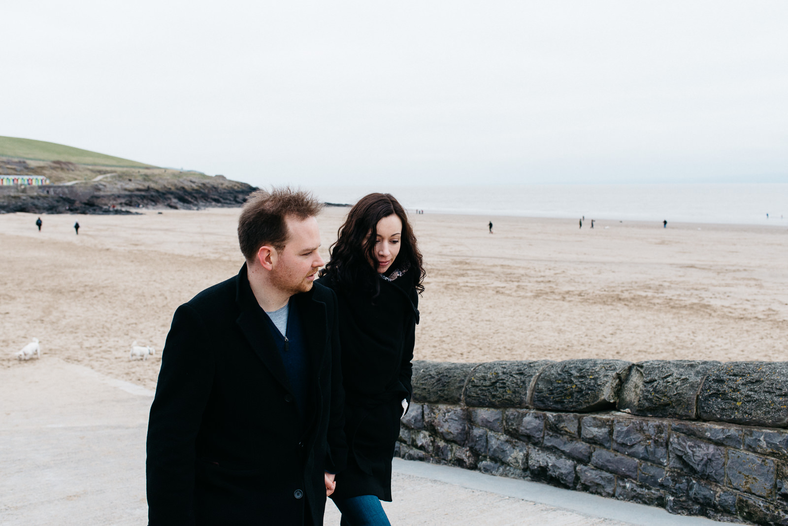 Welsh coast beach engagement shoot in South Wales // Elaine Williams Photography