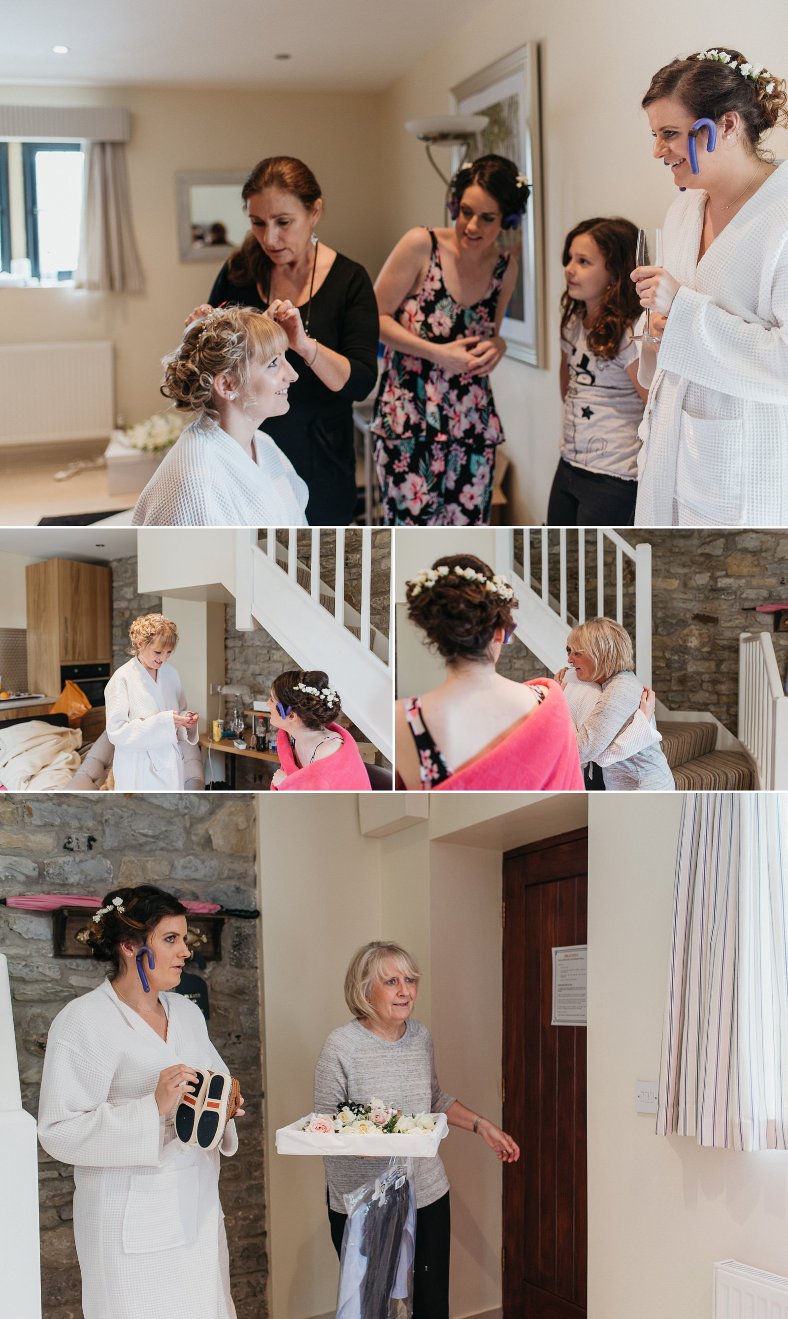 Bridal preparations at Bridgend