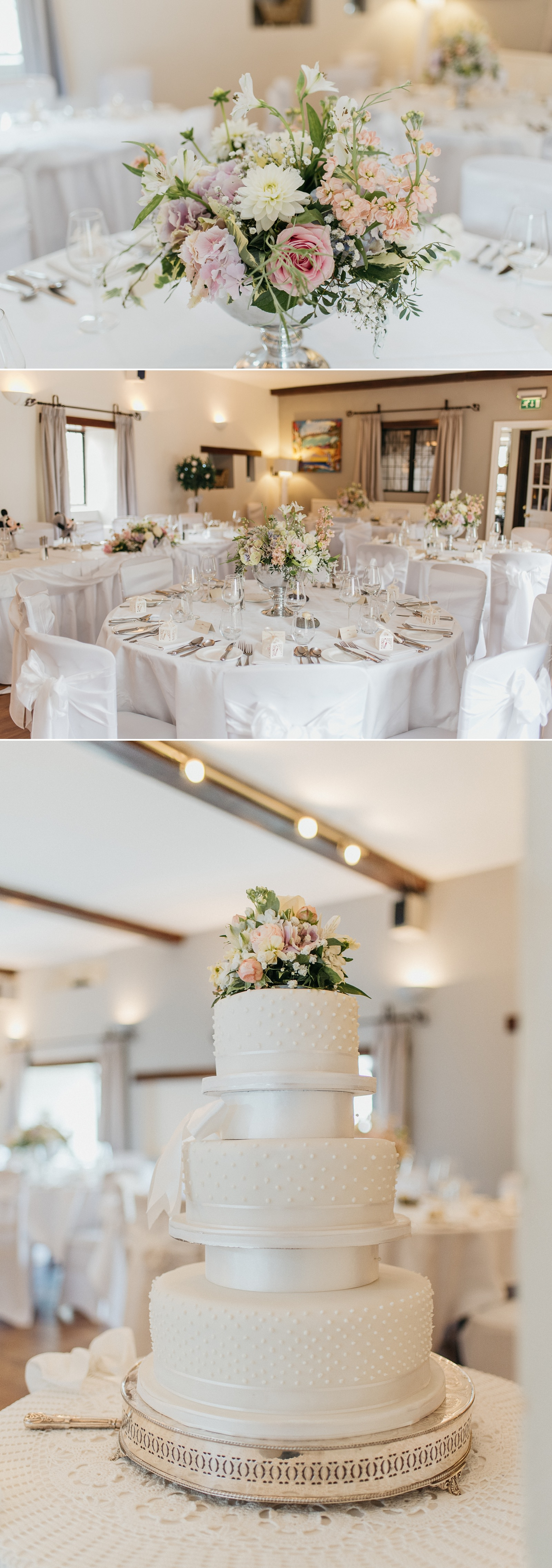 Relaxed South Classic wedding cake at relaxed wedding at The Great House Hotel, Laleston