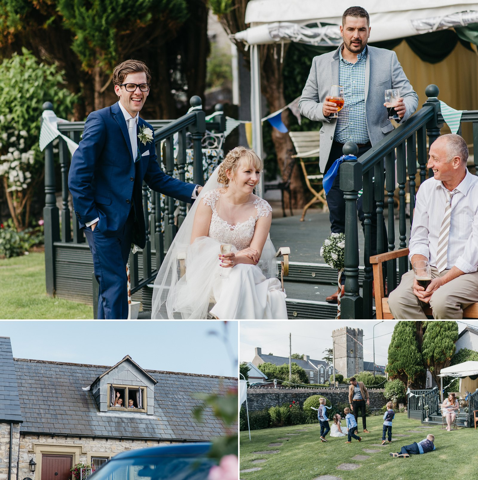 Relaxed South Wales wedding at The Great House Hotel, Laleston