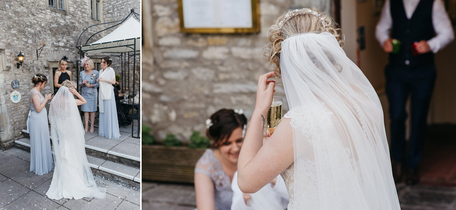 Beautiful bride at relaxed South Wales wedding at The Great House Hotel, Laleston