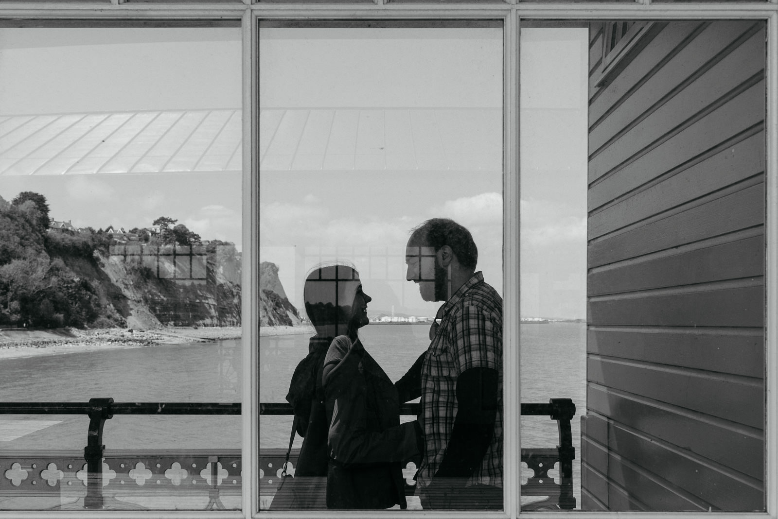 Creative pre-wedding photography session at Penarth Pier