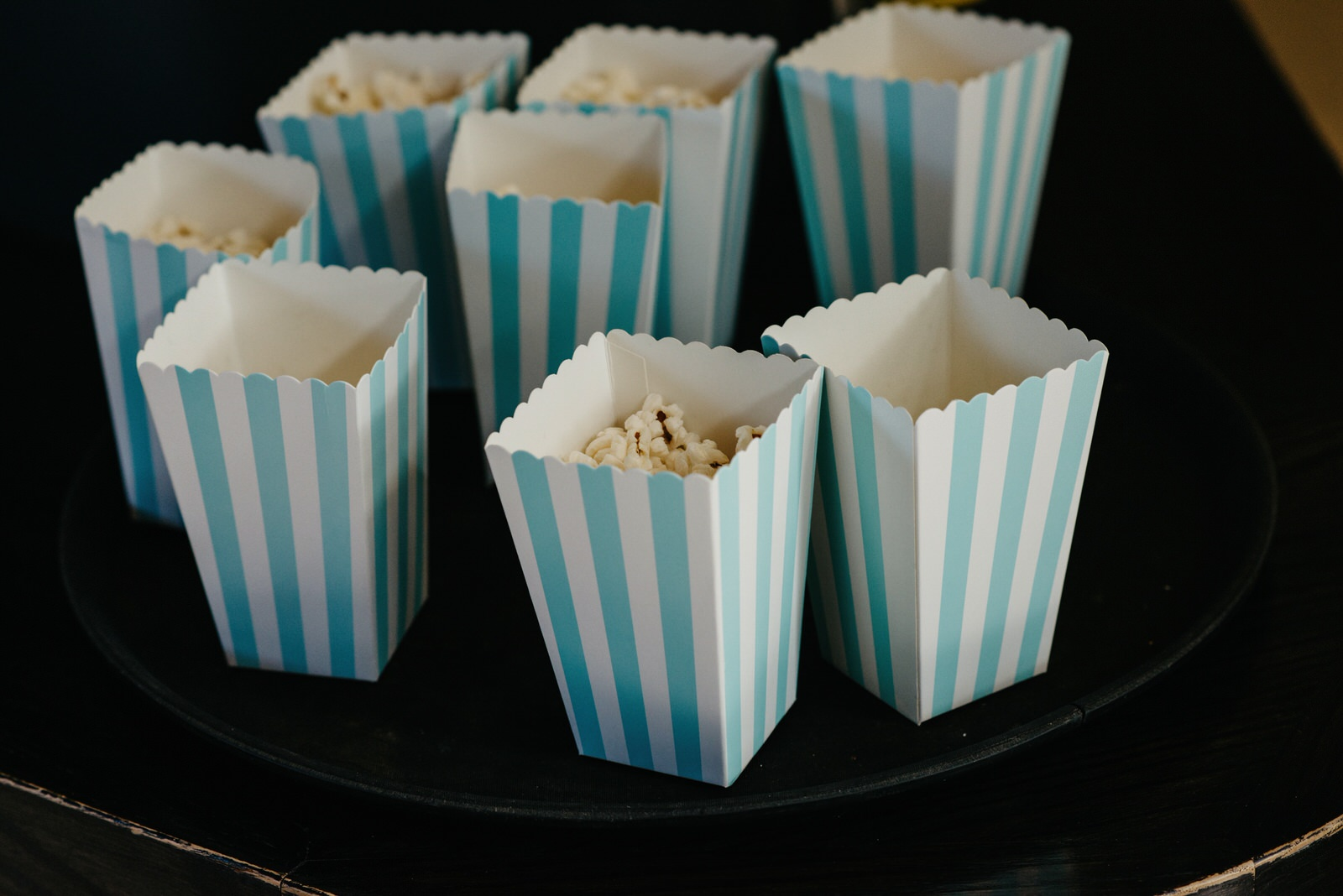 Popcorn at the Royal College of Music and Drama wedding
