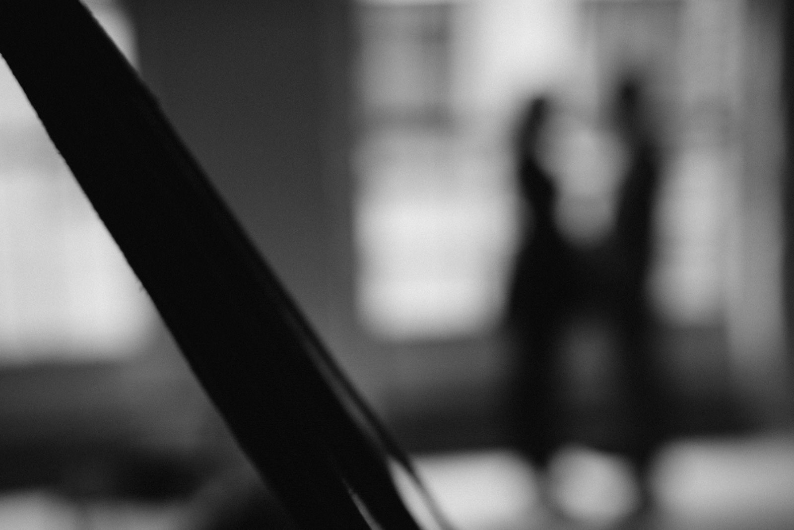 Black and white abstract of couple during their London couple shoot