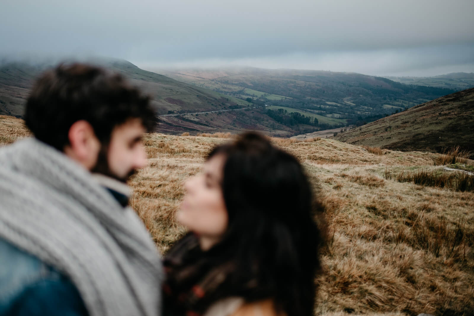 Adventurous wedding and engagement photography is Brecon Beacons in South Wales