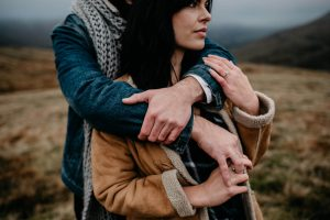 Adventurous and wild winter engagement session in the Brecon Beacons