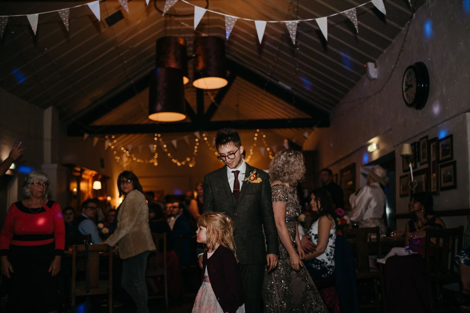 Bride and Groom take to the dance floor at their wedding at Ty Mawr on the outskirts of Cardiff