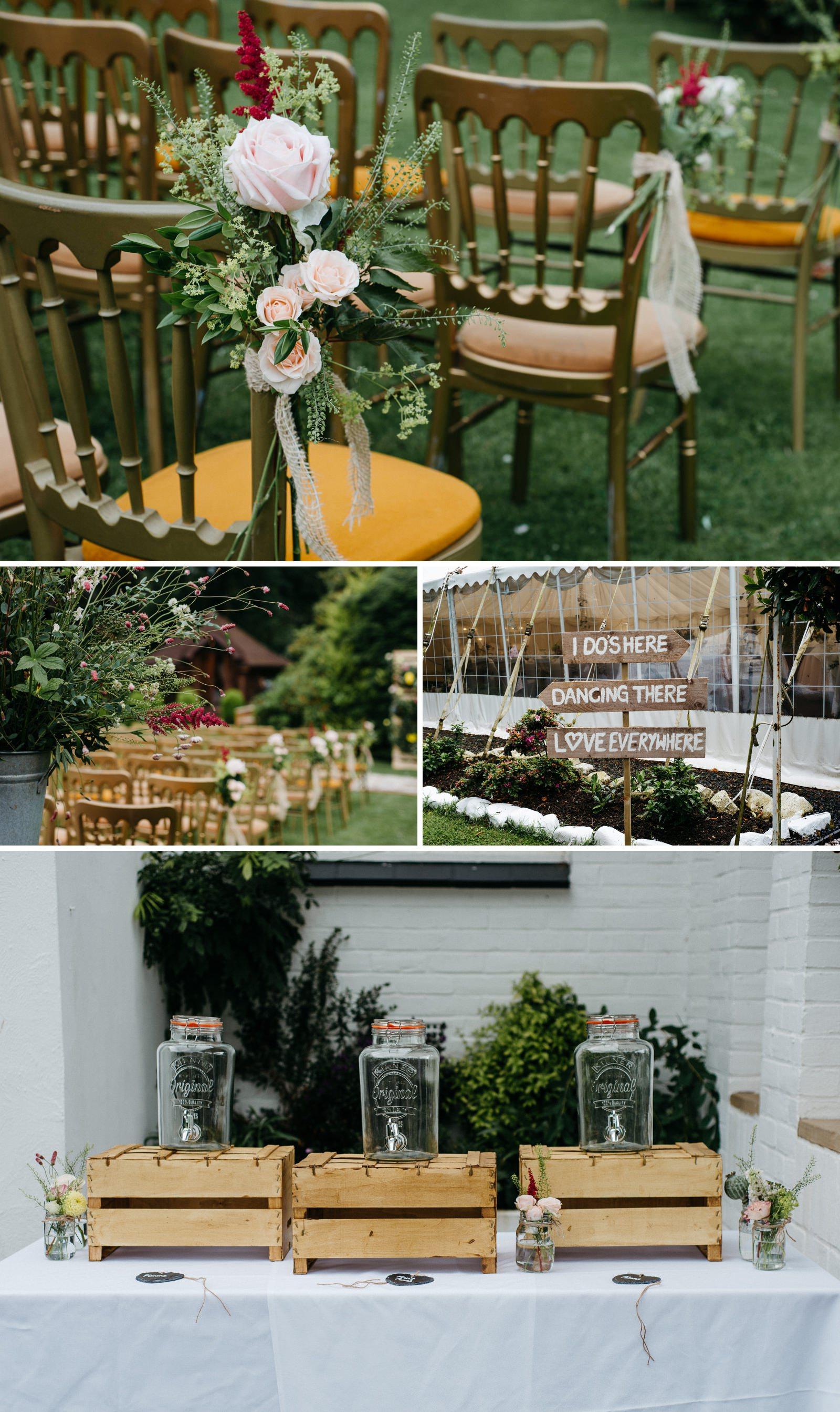 Alternative decor details at Enterkine House Hotel wedding in Ayrshire, Scotland