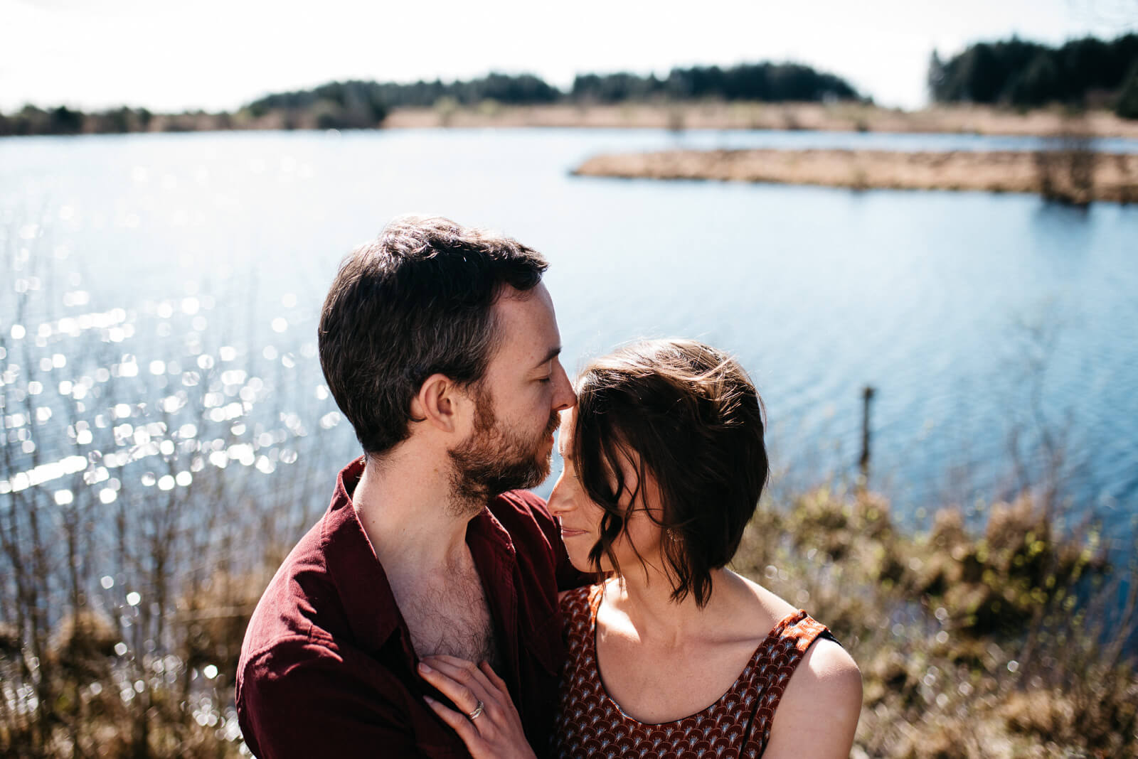 an engagement shoot at Llyn Llech Owain Country Park, Llanelli