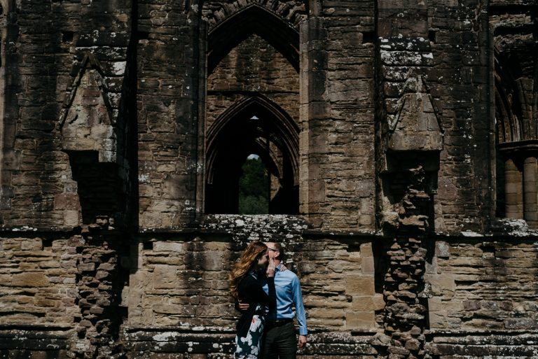 Engagement Portraits at Tintern Abbey, Wye Valley | Ashleigh & Jed