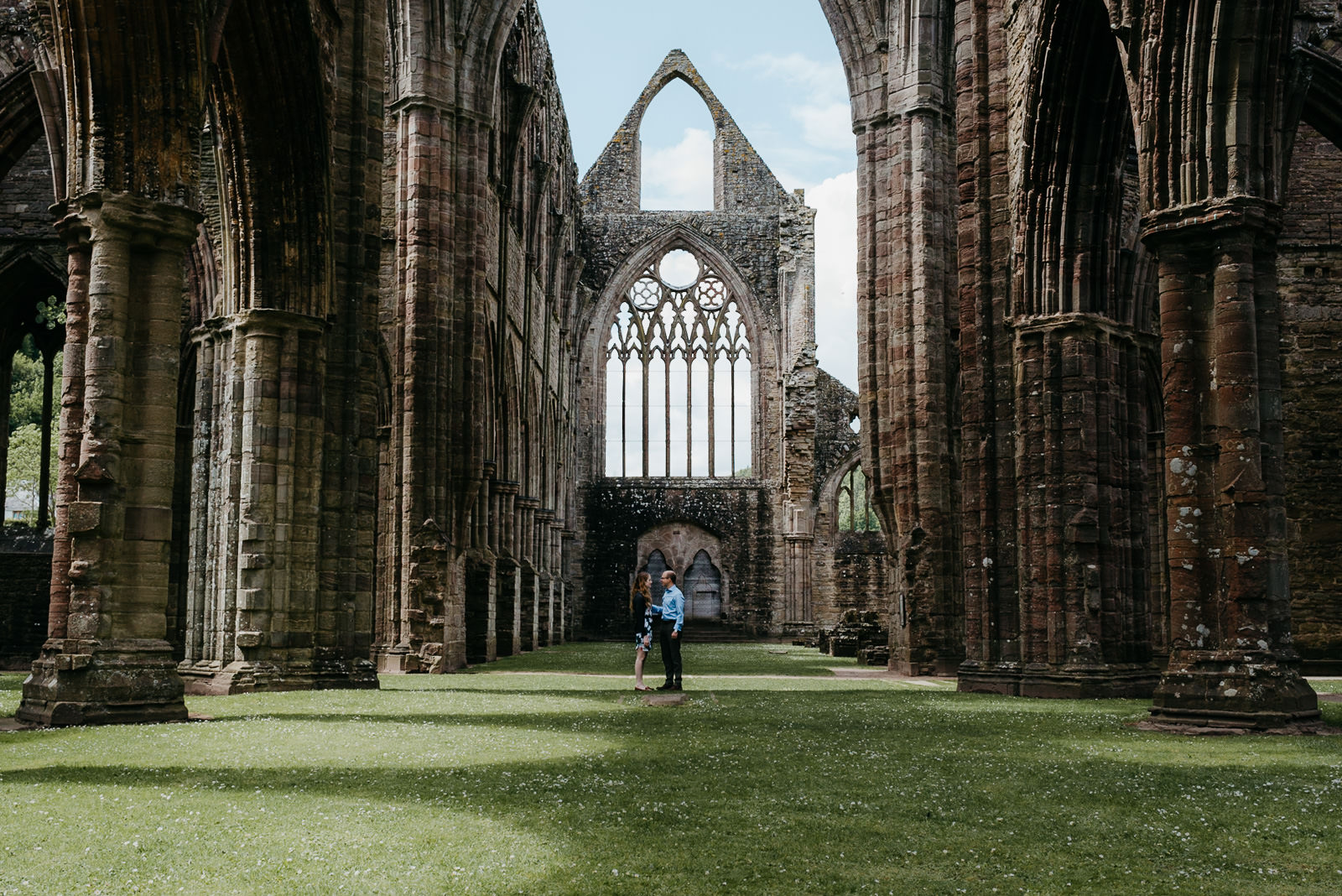 Bride & Groom in Tintern Abbey
