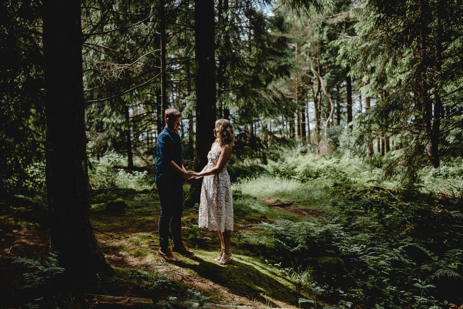 Stockhill Woods couple shoot by Somerset Wedding Photographer Elaine Williams