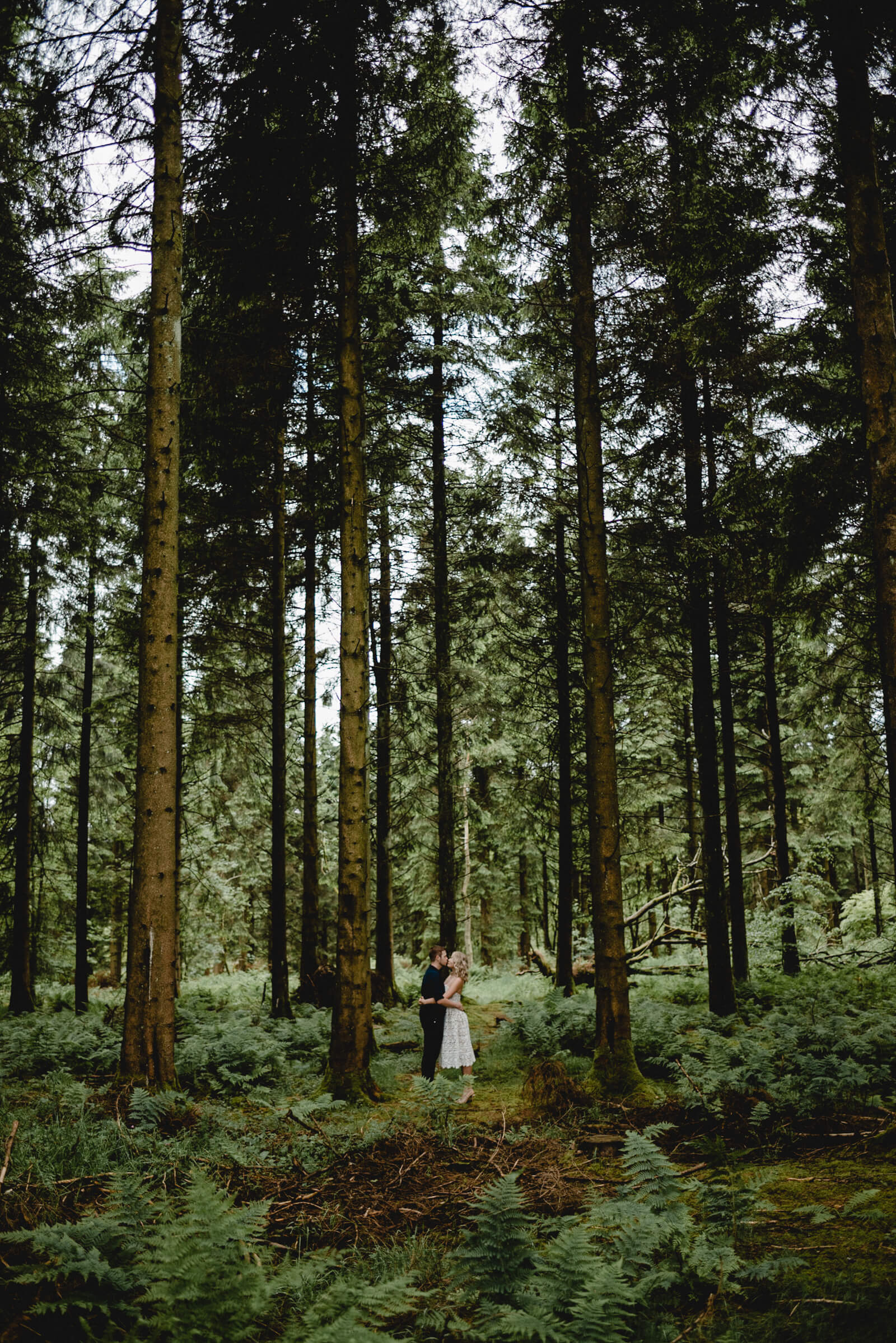 bride and groom in woods following their bristol wedding ceremony