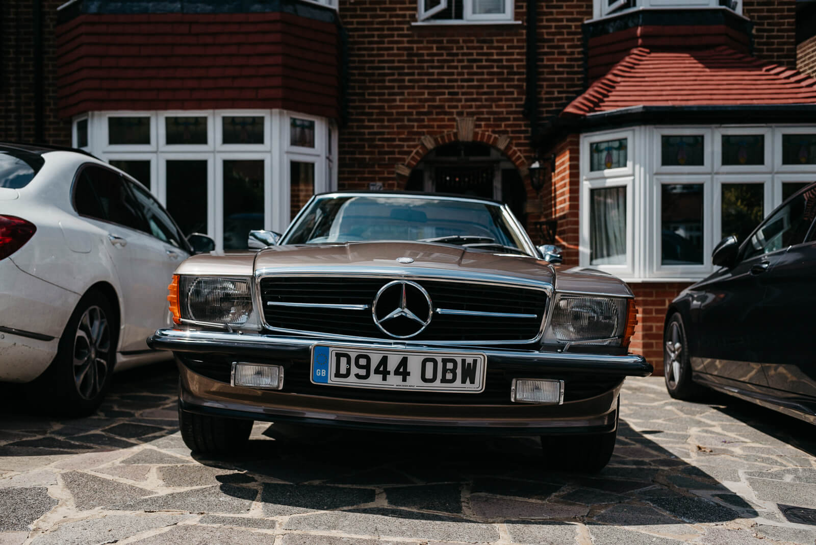 Vintage mercedes wedding car for London Wedding