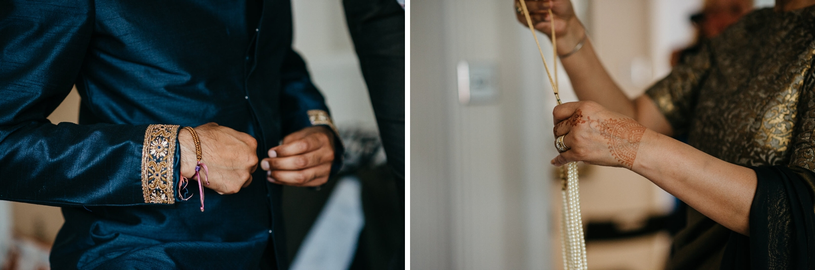 Traditional Indian details for a London Wedding at Marylebone One