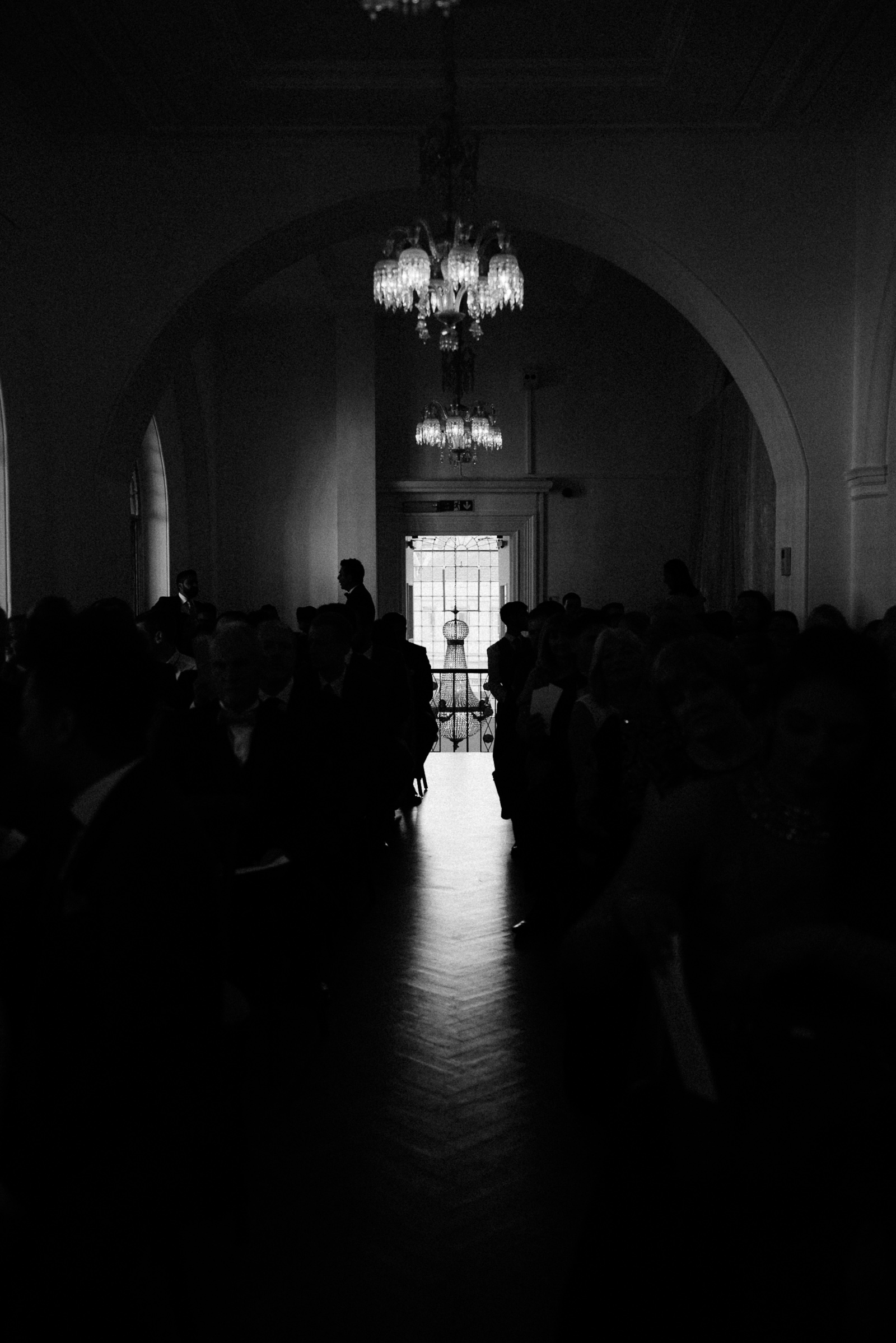 moody photograph of the ceremony room at Marylebone One, London