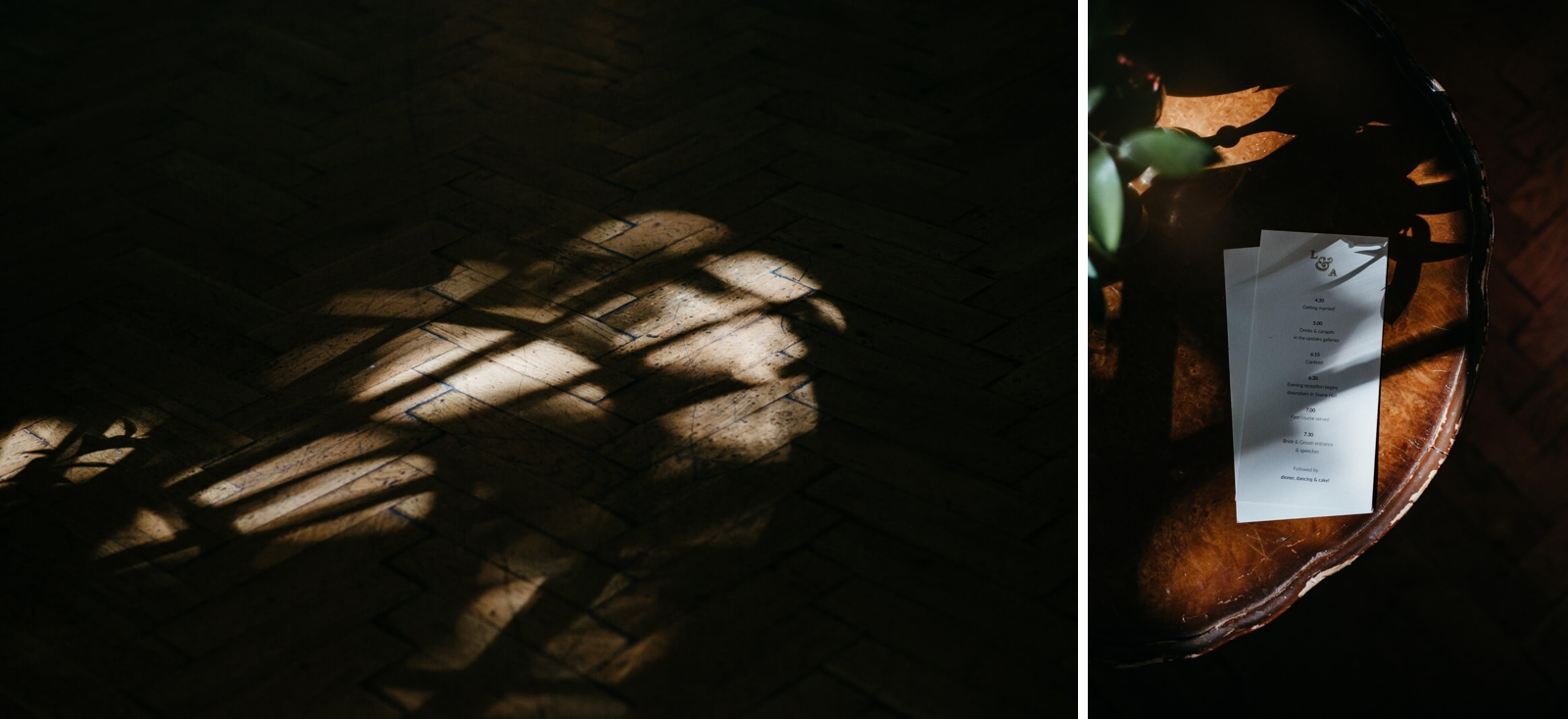 moody photographs of details at Marylebone One wedding, London