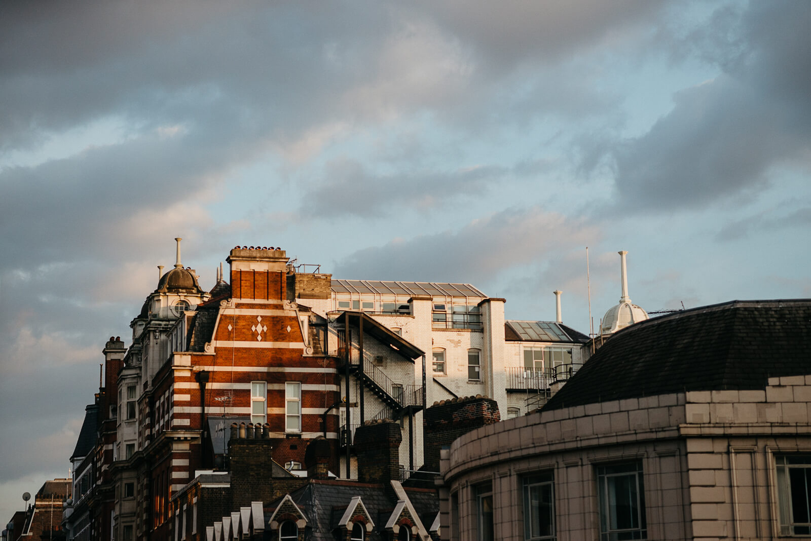 sunset in London from Marylebone One