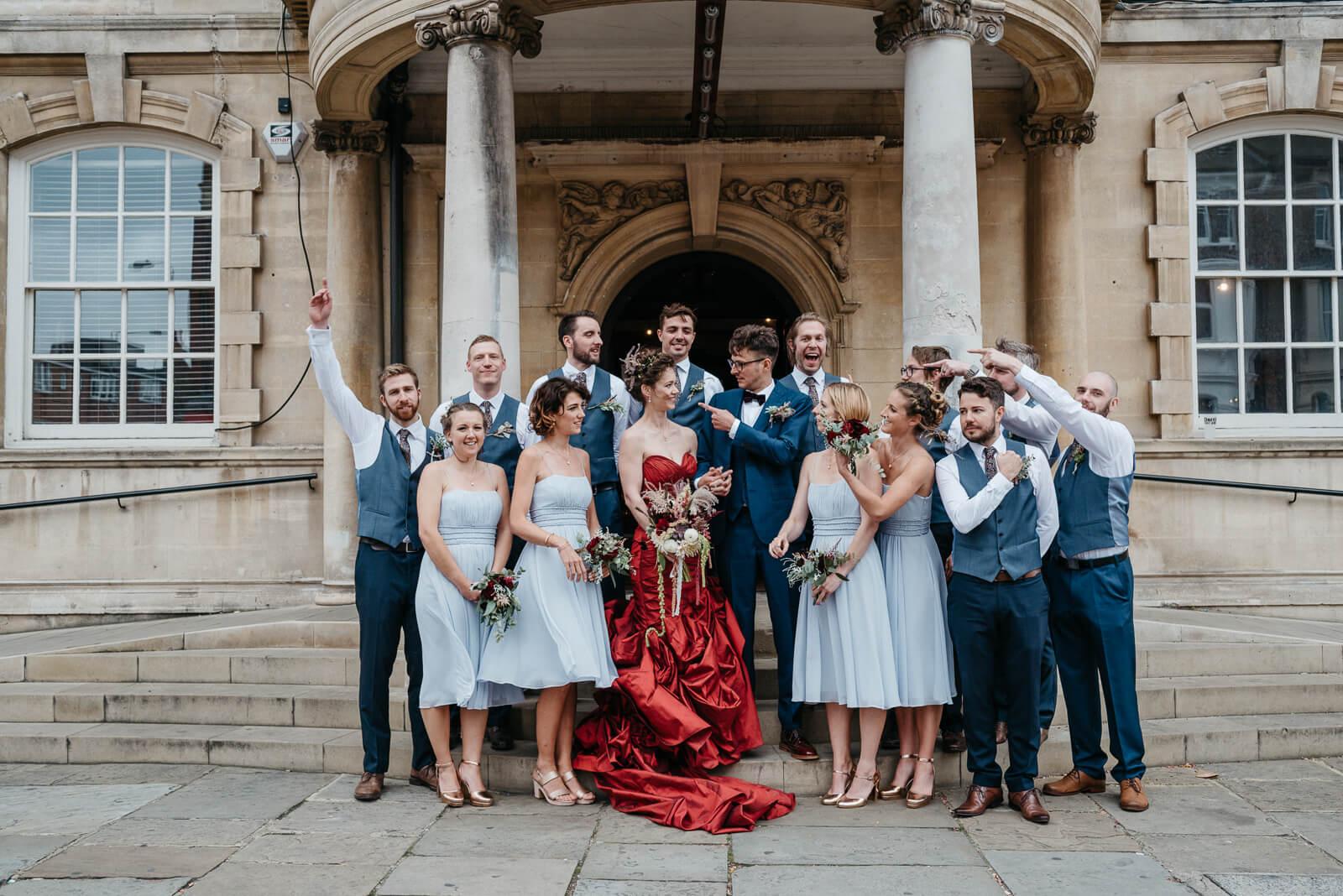 fun group shot outside Battersea Arts Centre