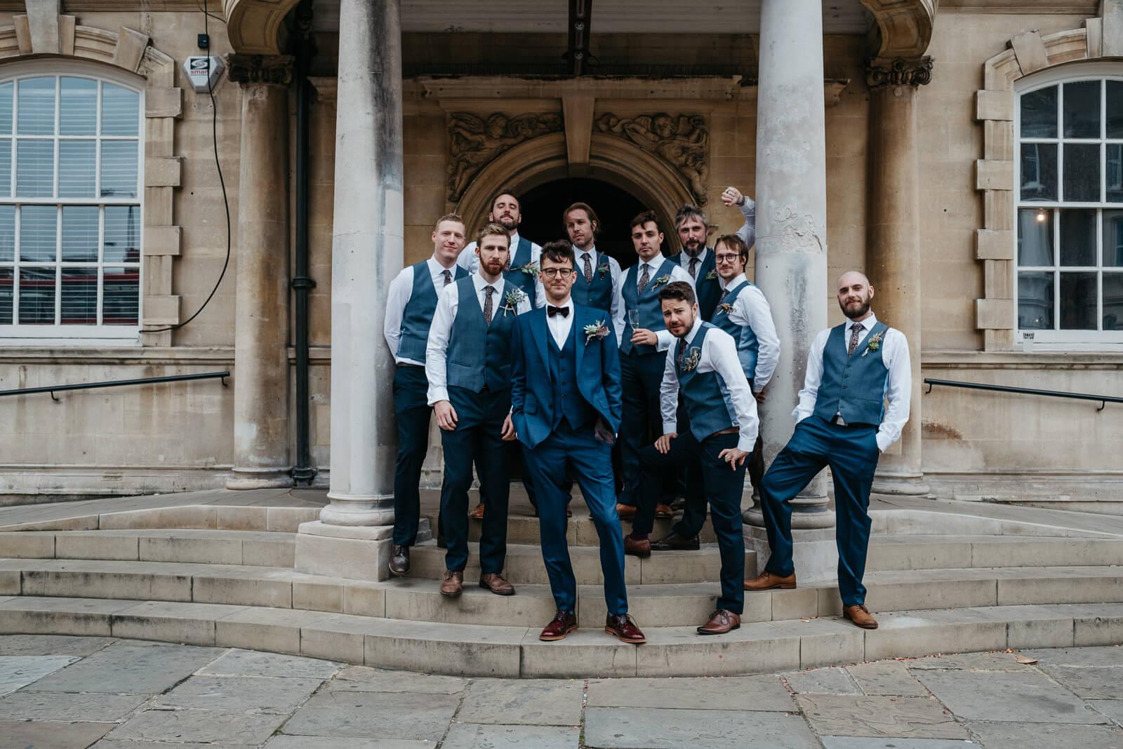 Stylish London groomsmen