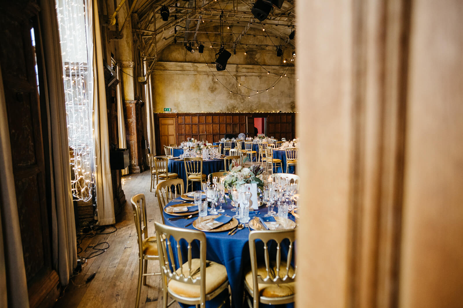 Wedding details in the Council Chamber at Battersea Arts Centre