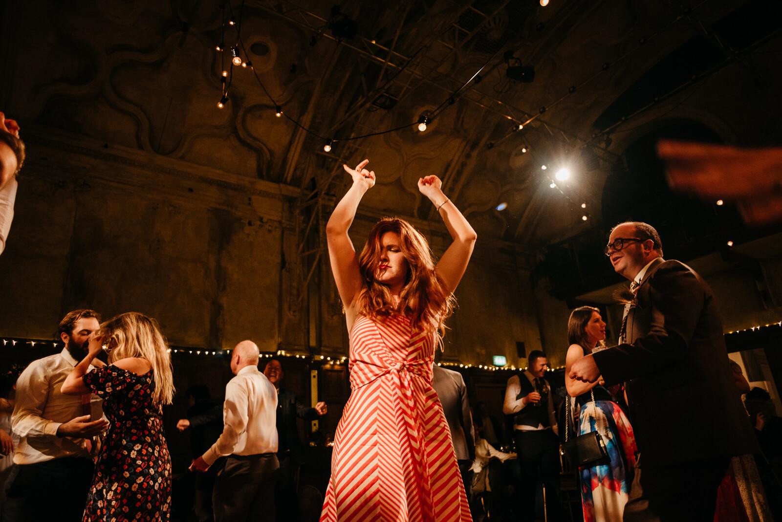 happy guests enjoying the music dancing at Battersea Arts Centre
