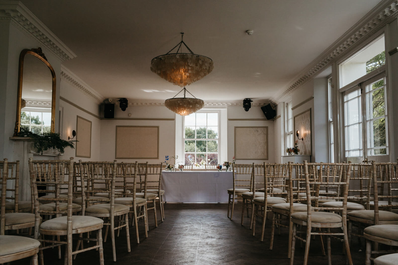 The light and airy the Ceremony room at Belair House in London