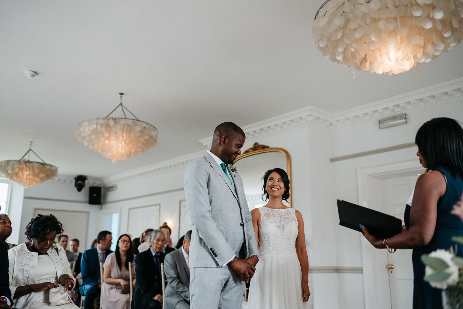 London Bride and groom exchange vows at Belair House