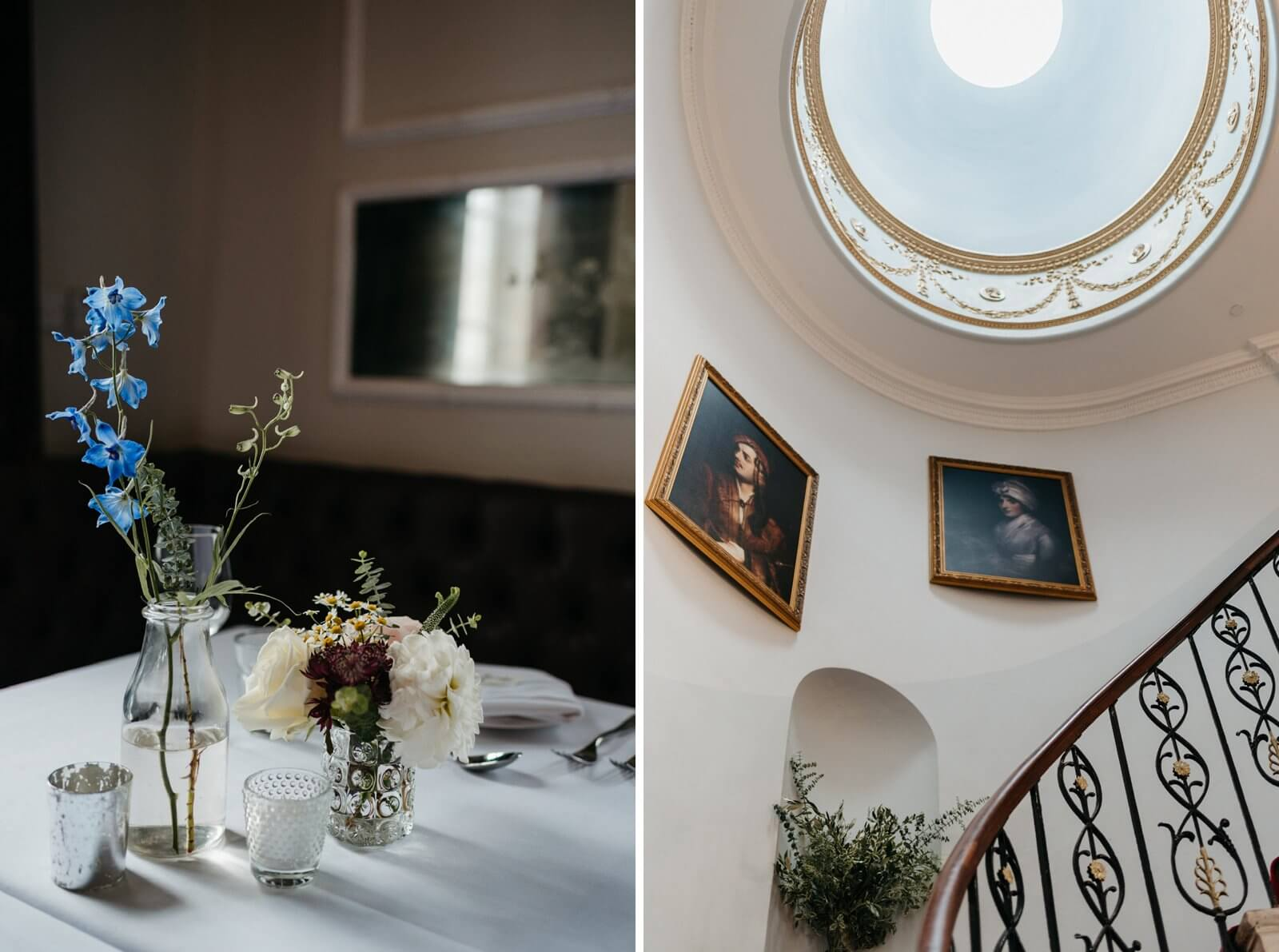 beautiful decor at Belair House, Dulwich