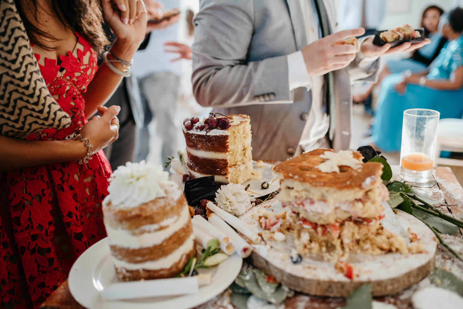 cake table aftermath at Belair House in London