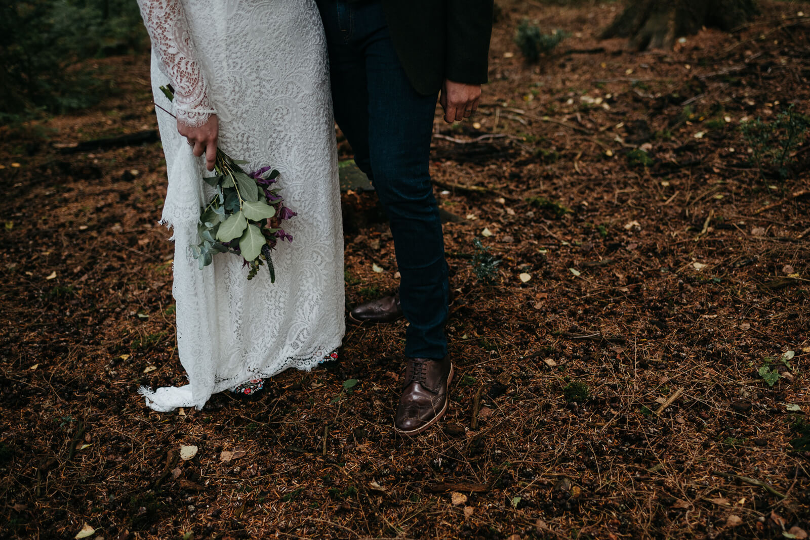autumn wedding details in the the new forest, Hampshire