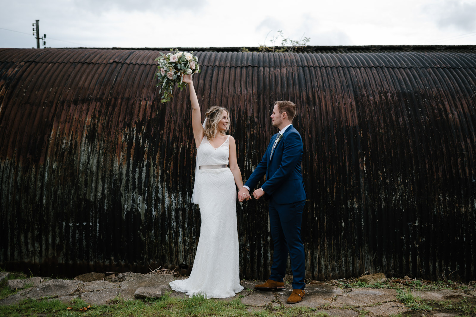 modern couple portraits at Glove Factory Studios in Wiltshire
