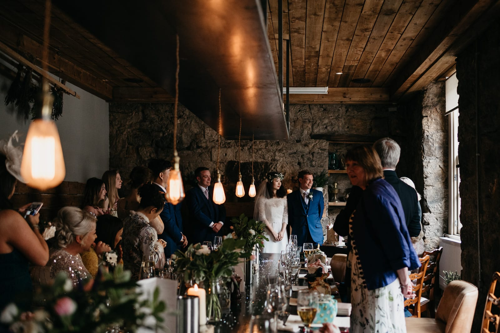 Intimate wedding ceremony at the Bothy, Glasgow